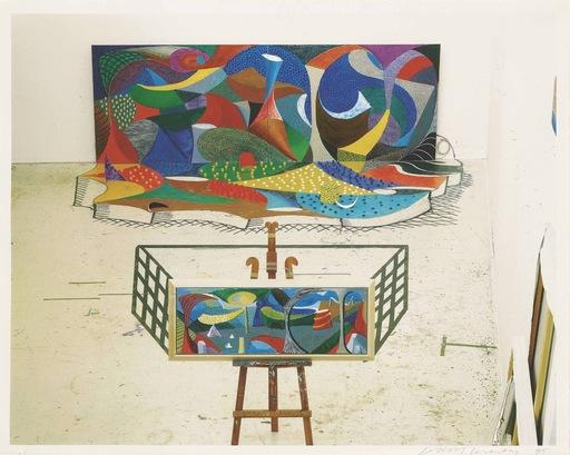 David HOCKNEY - Print-Multiple - The studio, March 28th