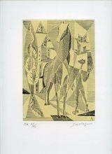 Léopold SURVAGE - Grabado - GRAVURE SIGNÉE AU CRAYON NUM EA /VII HANDSIGNED NUMB ETCHING