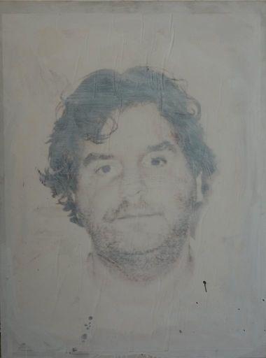 Philippe PASQUA - Gemälde - Self-portrait in smoke