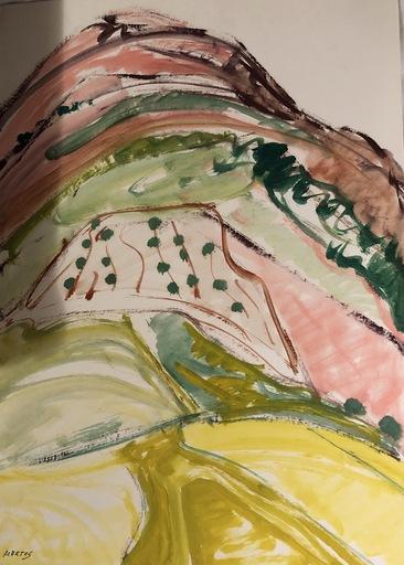 Manuel MARTOS - Drawing-Watercolor - Sierra Quesada