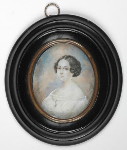 "Karl VON SAAR - Miniatura - ""Portrait of a lady"" miniature on ivory, 1840s"
