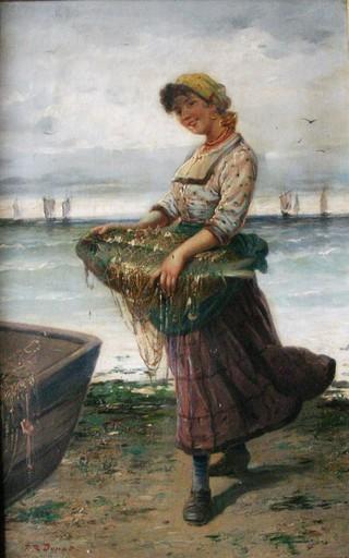 Frederick Reginald DONAT - Peinture - Retour de pêche