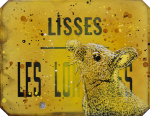 C215 - Painting - Lapin Lisses