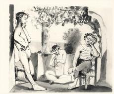 巴勃罗•毕加索 - 版画 - Bacchanale