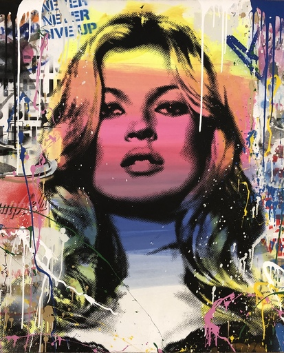 MR BRAINWASH - Pintura - Kate Moss (2018)