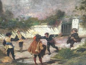 Máximo Juderiás CABALLERO - Painting - DUELO