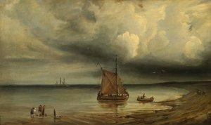 Théodore GUDIN - Pintura - MARINE PAR GROS TEMPS