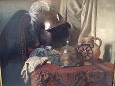 Anna Marie WIRTH - Painting - Stillleben mit Helm,Still life with helmet