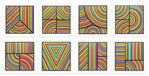 Sol LEWITT - Druckgrafik-Multiple - Color Bands (portfolio of 8)