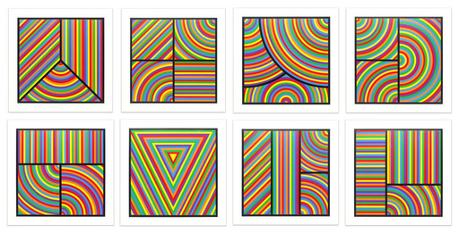 Sol LEWITT - Estampe-Multiple - Color Bands (portfolio of 8)