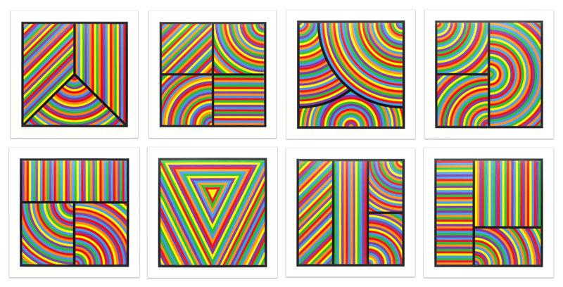 Sol LEWITT - Print-Multiple - Color Bands (portfolio of 8)