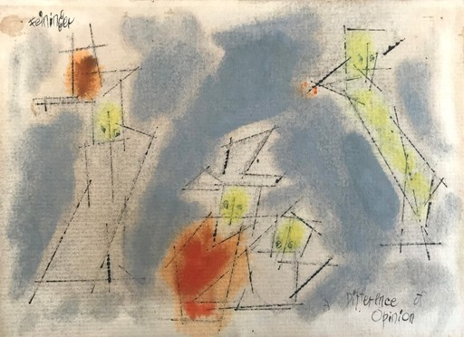 Lyonel FEININGER - Zeichnung Aquarell -  A Difference of Opinion