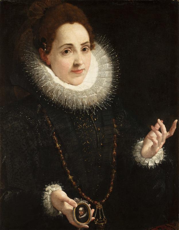 Agostino CARRACCI - Painting - Ritratto di Olimpia Luna