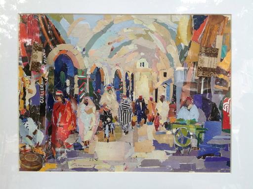 Eddine Sahraoui SCHEMS - Drawing-Watercolor - le souk