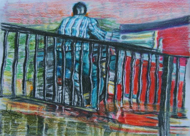Susanne SCHOLZ - Drawing-Watercolor - Spiegelung 66