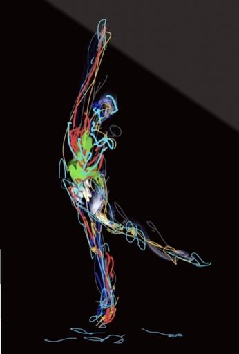 Nicole LEIDENFROST - Druckgrafik-Multiple - Dance Studies Nr 2