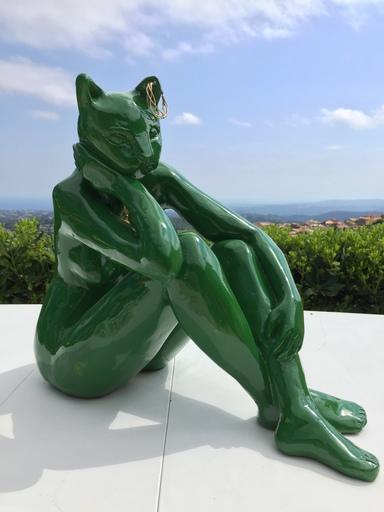 Pari RAVAN - Sculpture-Volume - Cat Lady