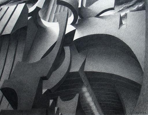 Jean CRITON - Zeichnung Aquarell - Le site decalé