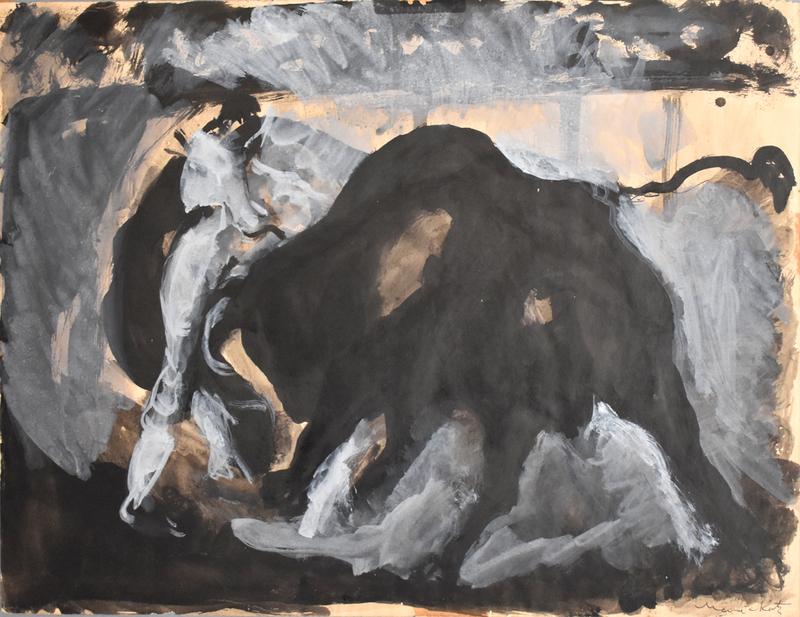 MANÉ-KATZ - Drawing-Watercolor - Bullfighting