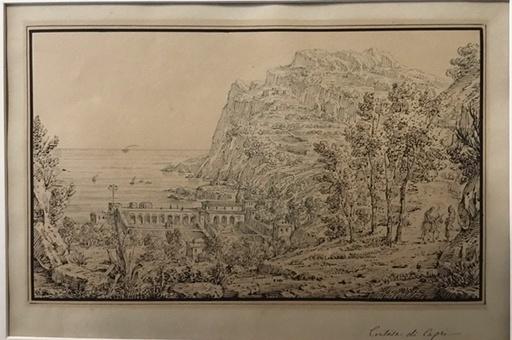 Antonio SENAPE - Dibujo Acuarela - Certosa di Capri