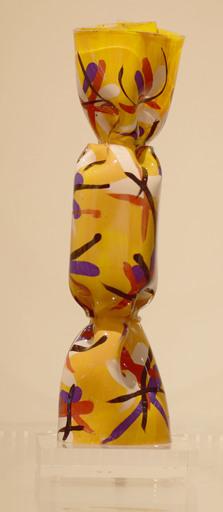 Laurence JENKELL - Sculpture-Volume - Wrapping Bonbon Collector peint jaune
