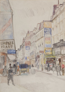 Raoul DUFY - Drawing-Watercolor - La rue Vieille du Temple à Paris