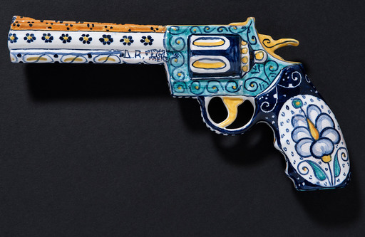 Antonio RIELLO - Sculpture-Volume - Revolver Colt Pyton