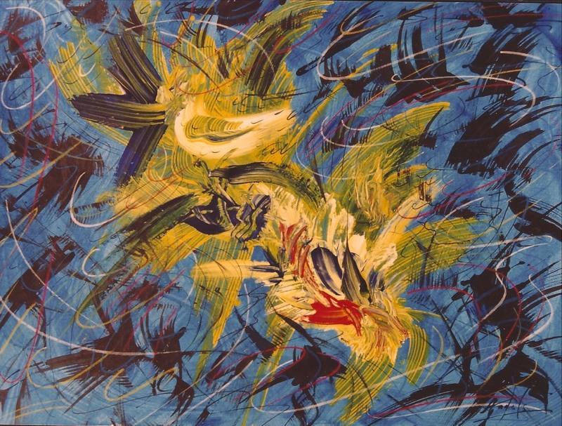 Didier ANGELS - Peinture - Rêve animé