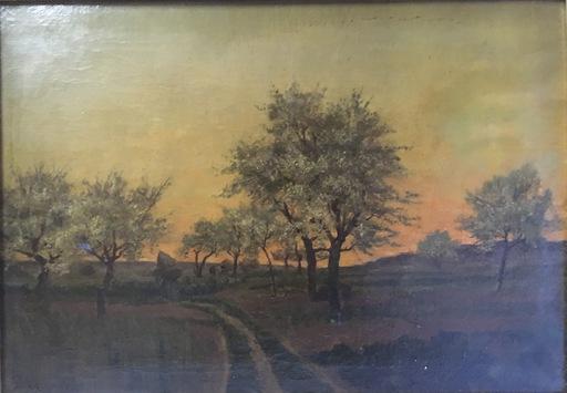 Adrien SCHULZ - Painting - Arbres en fleurs