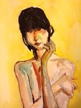 Nedzad Nedzo DURAKOVIC - Drawing-Watercolor - In expectation, 2015