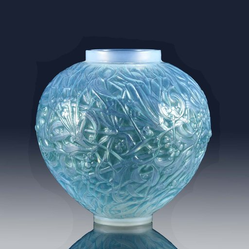 René LALIQUE - Blue Gui Vase
