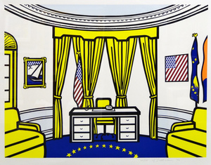 Roy LICHTENSTEIN, OVAL OFFICE