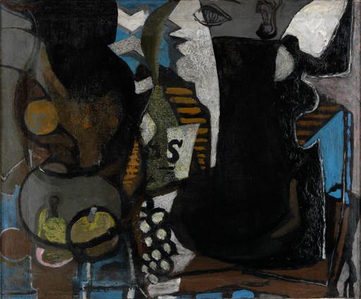 Georges BRAQUE - Painting -  FEMME A TABLE, ca. 1925 / HUITRES ET CITRON, 1958