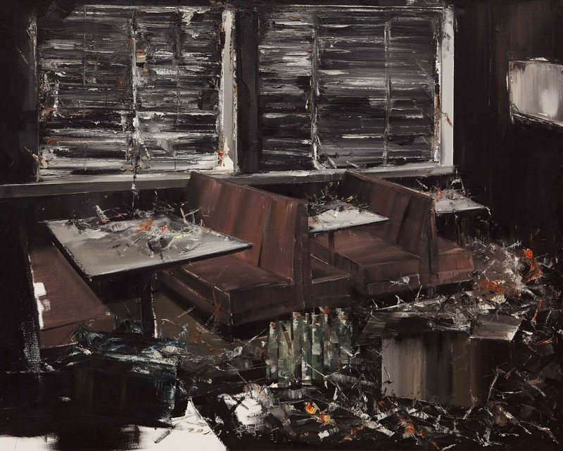 LI Baoxun - Painting - Bar - Suffocate Serie