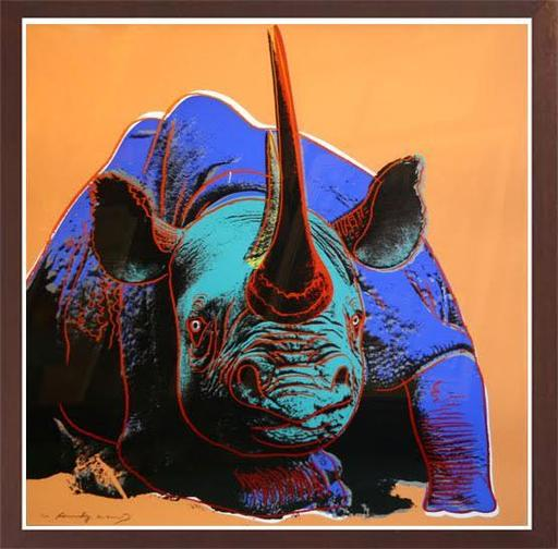 Andy WARHOL - Black Rhinoceros