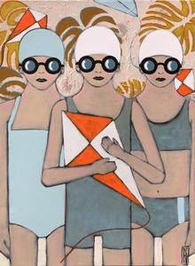 Raoul P. BROSSEAU - Painting - la capture