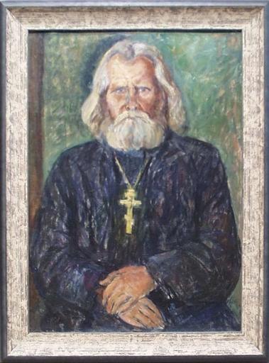 """Silvia KOLLER - Gemälde - """"Russian Priest"""" by Sylvia Koller, ca 1920"""