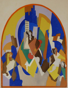 Albert GLEIZES - Estampe-Multiple - Decoration for the Moscow Train Station