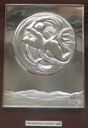 萨尔瓦多·达利 - 雕塑 - EVE SPATIALE 1977 BAS RELIEF EN ARGENT 925/1000 SIGNÉ