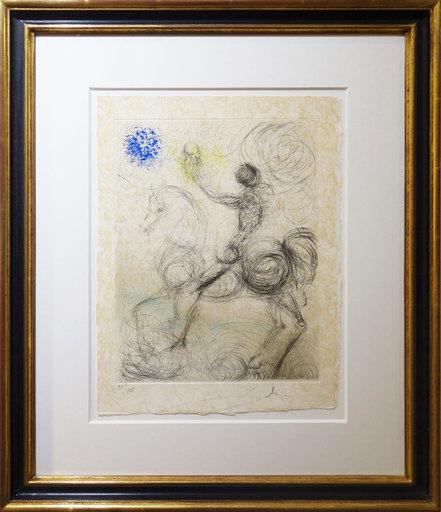Salvador DALI - Print-Multiple - Cavalier et la mort