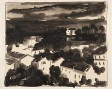 Maurice DE VLAMINCK - Dibujo Acuarela - Ciel d'orage