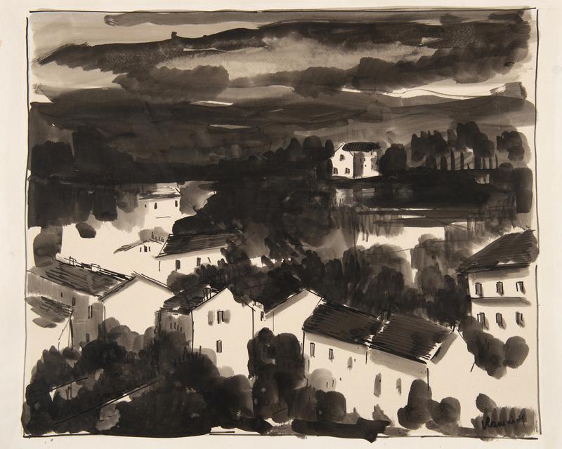 Maurice DE VLAMINCK - Drawing-Watercolor - Ciel d'orage