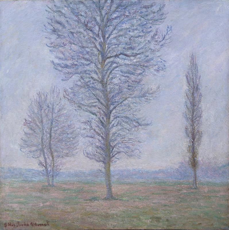 Blanche HOSCHÉDÉ-MONET - Peinture - Les trois peupliers, Giverny