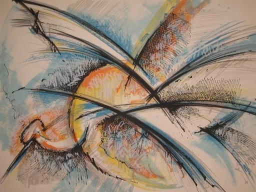 Roger LERSY - Print-Multiple - L'oiseau,1985.