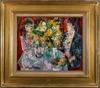Emilio GRAU-SALA - Peinture - INTERIEUR AUX FLEURS JAUNES