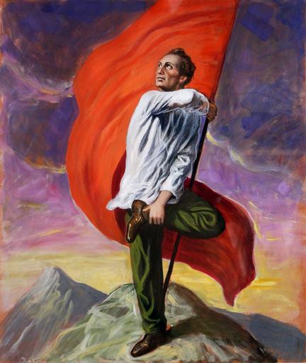 Stefano DI STASIO - Painting - La bandiera più alta