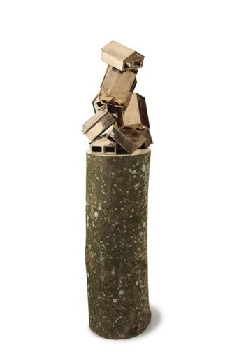"Eske KATH - Sculpture-Volume - ""Bronze Pile"""