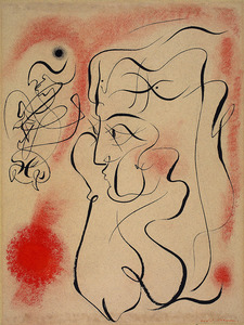 André MASSON - Drawing-Watercolor - Arianne