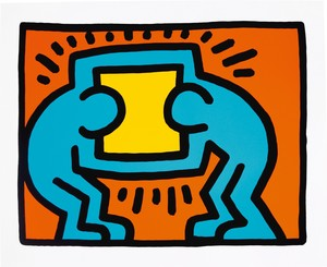 Keith HARING - Estampe-Multiple - Pop Shop VI, # VI-C