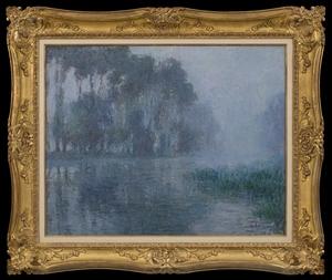Gustave LOISEAU - Peinture - Brume sur l'Eure, environs de Saint-Cyr-du-Vaudreuil